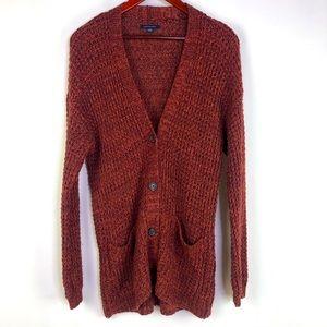 American Eagle Cardigan Long Sleeve Knit Pockets